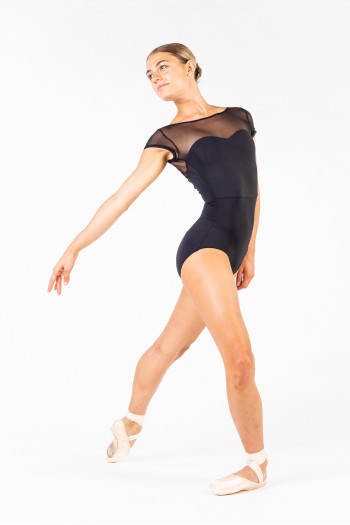 Leotard Capezio MC831W short sleeves
