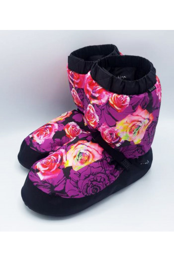 Bloch warm up booties violet flowers