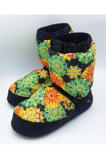 Bloch warm up booties IM009 green flower