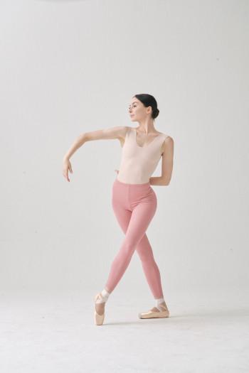 SMK lilac/nude reversible leotard