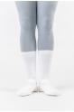 Chaussettes blanches coton garçons mi-mollet