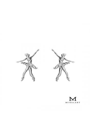 Boucles d'oreilles Mikelart danseuse en argent