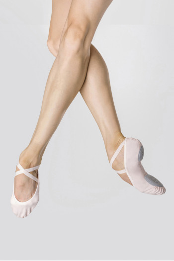 Demi-pointes stretch roses Wear Moi Ceres light pink