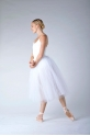Repetto women white rehearsal skirt D0534