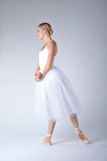 Repetto women white rehearsal skirt D0534