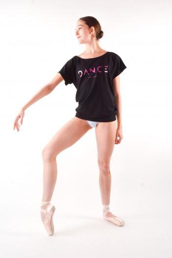 T-Shirt Temps Danse Ava logo dance noir