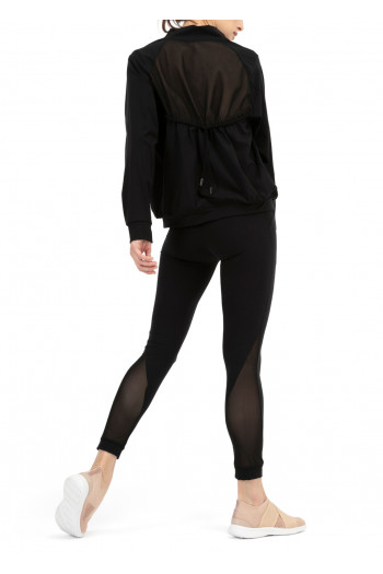 Legging high-stretch fishnet Repetto black