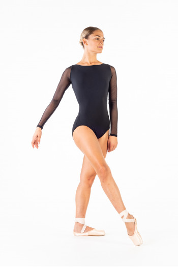 Leotard Capezio MC832W long fishnet sleeves