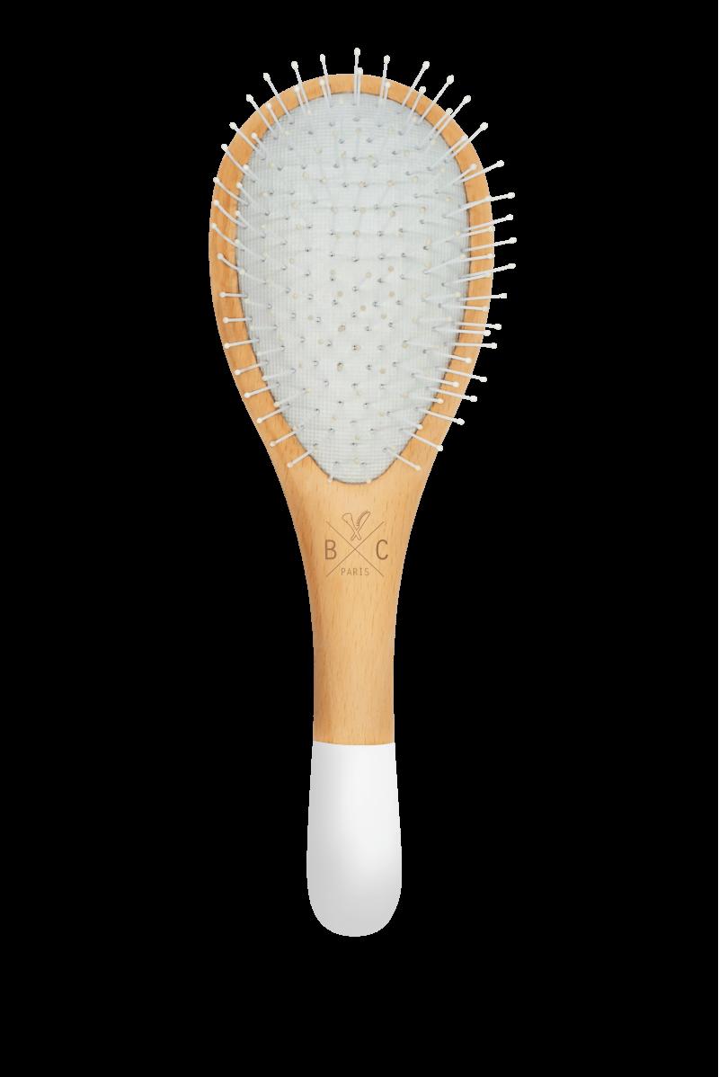Brosse démêlante petit modèle en bois - Nylon Bachca