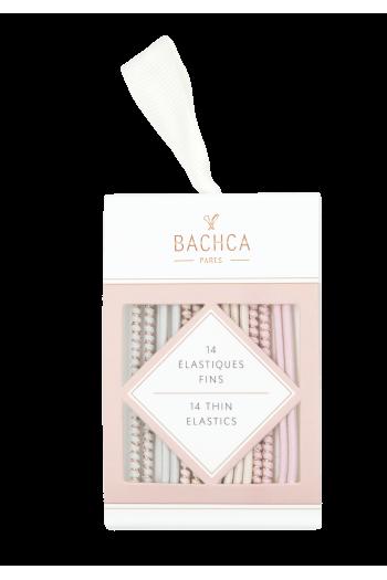 Elastiques fins pastel et lurex Bachca