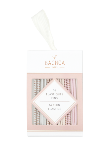 Thin elastics pastel and lurex Bachca