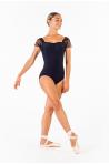 Justaucorps dentelle Ballet Rosa Justine noir
