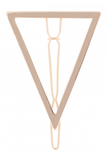 Metal Triangle Barrette Bachc