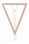 Barrette Triangle en Métal Bachca