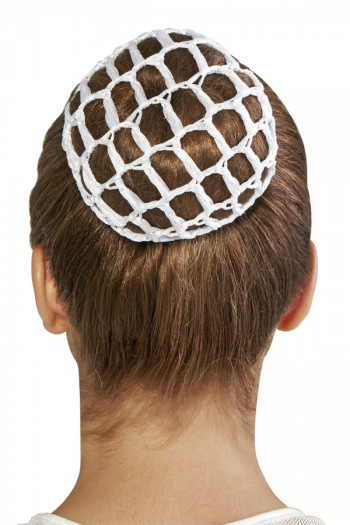 Filet Crochet pour chignon Bloch blanc A0804