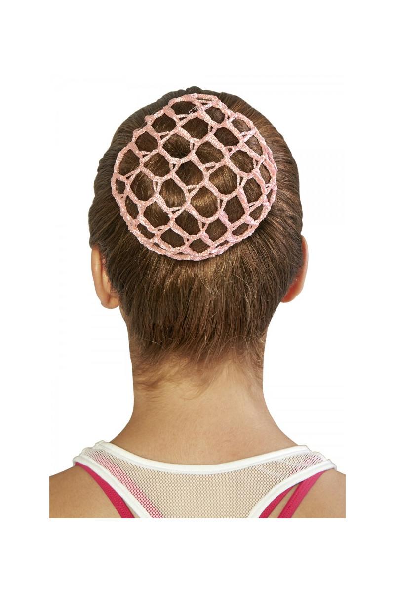 Filet crochet pour chignon Bloch rose A0804