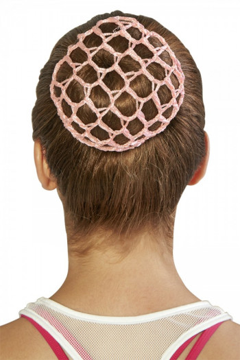 Filet crochet pour chignon Bloch rose A0804