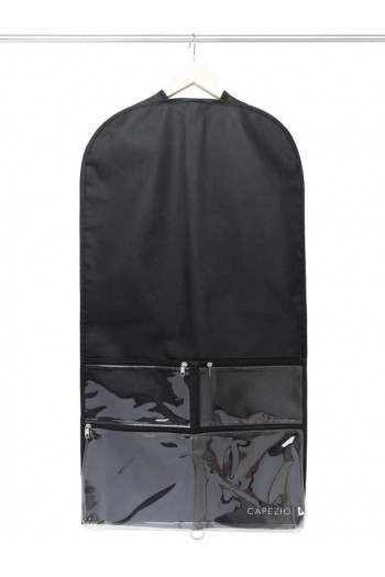Clear Garment Bag black