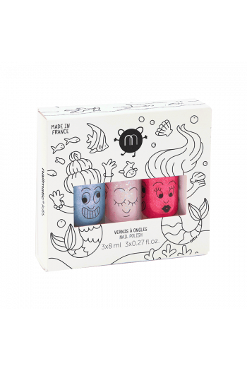 Coffret 3 vernis enfant Mermaid Nailmatic