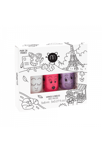 Coffret 3 vernis enfant City Nailmatic
