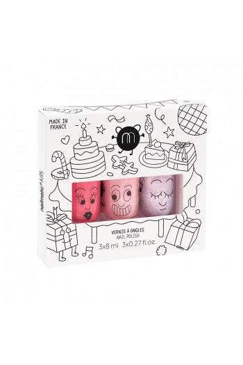 Coffret 3 vernis enfant Party Nailmatic