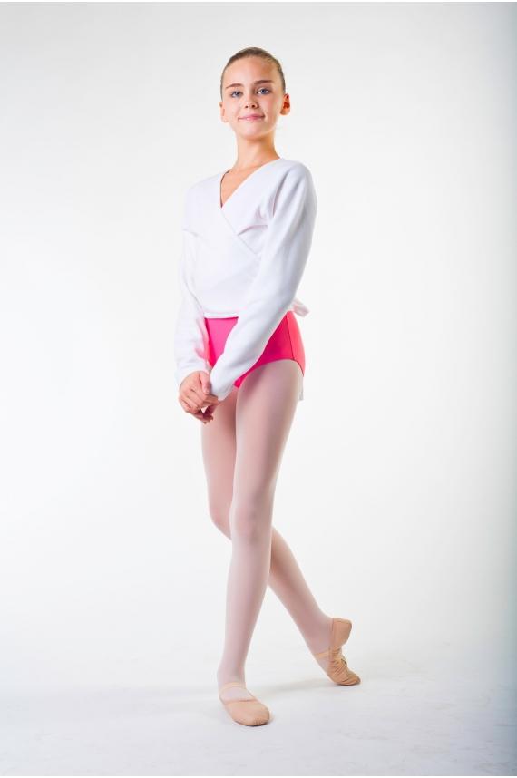 cache coeur polaire de danse repetto d105 blanc mademoiselle danse. Black Bedroom Furniture Sets. Home Design Ideas