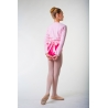 Repetto pale pink fleece wrap-over top D105