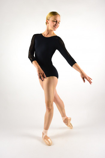 Leotard long sleeves 31491 black