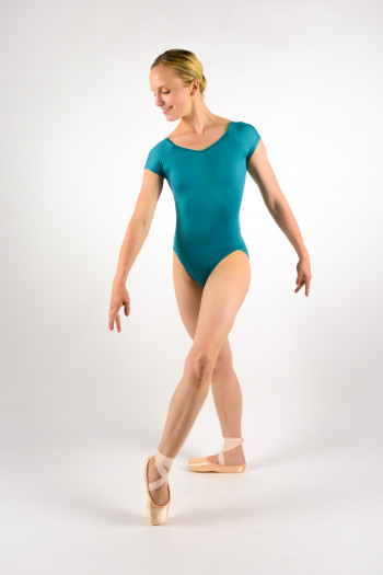 Ballet Rosa Frida teal leotard