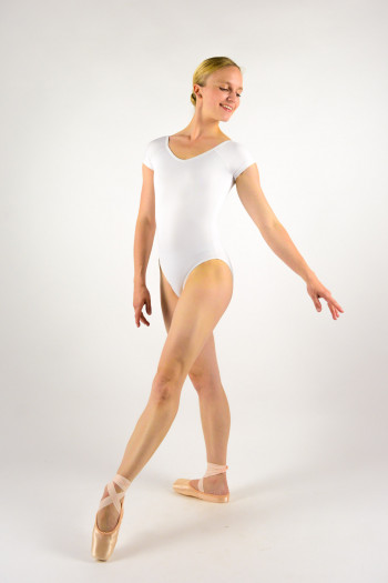 Ballet Rosa Frida white leotard