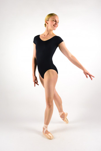 Ballet Rosa Frida black leotard