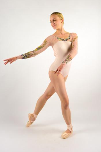 Leaotard Ballet Rosa Sae powdery