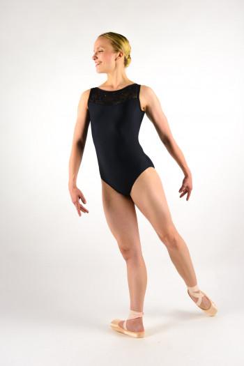 Ballet Rosa Camila black women leotard