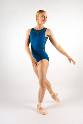 Leotard Ballet Rosa Antonia grey