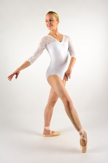 Intermezzo 31260 long sleeve white leotard
