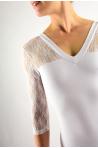 Intermezzo 31260 long sleeve white leotard