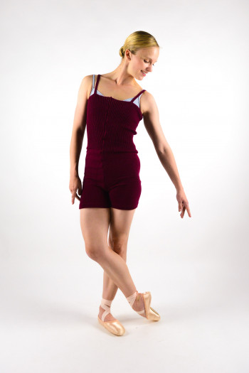 Intermezzo warm up unitard burgundy adult