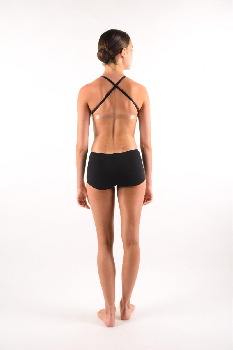 Sports bra plunging neckline Capezio Black 3777W