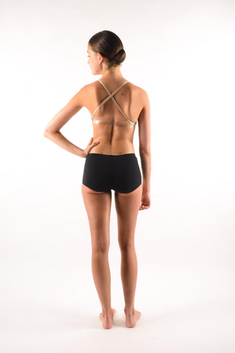 Sports bra plunging neckline Capezio Flesh 3777W