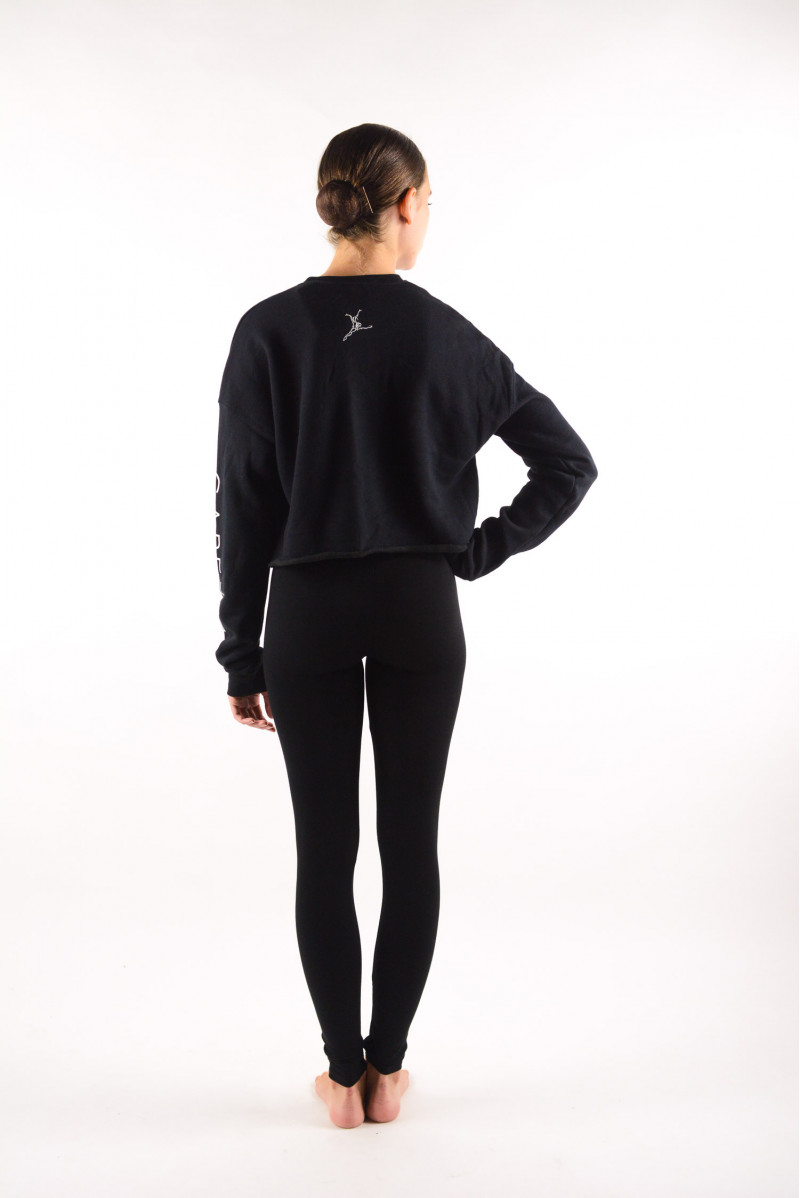 Sweat court logoté Capezio Noir 11560W