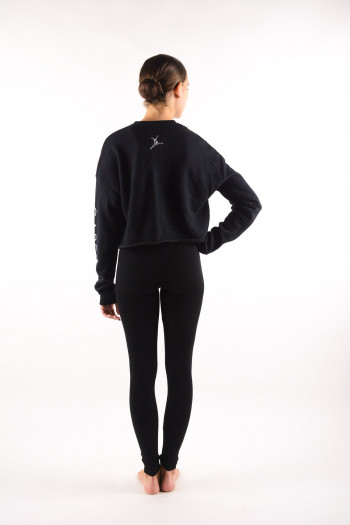 Crop Sweat Shirt Capezio black 11560W