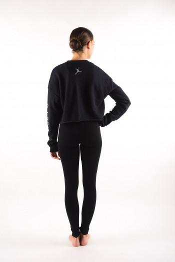 Crop Sweat Shirt Capezio black 11560W