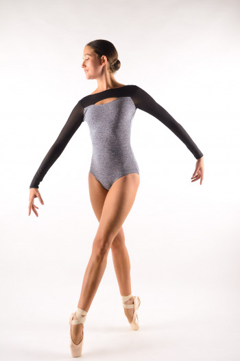 Leotard Capezio long sleeves Grey 11654W