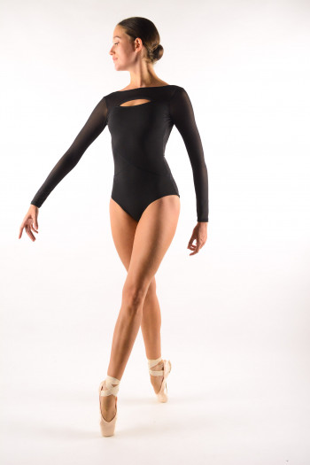 Leotard Capezio long sleeves Black 11654W