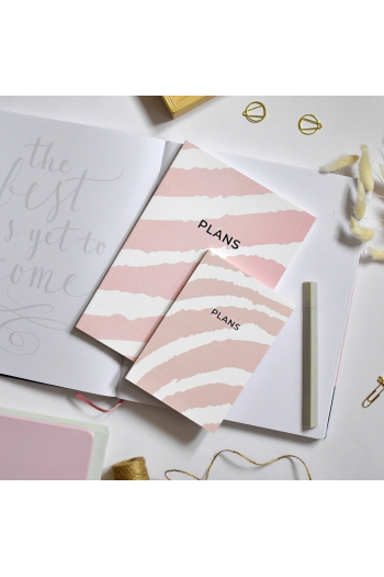 Notebook A6 Pink Zebra Print The Room Alive