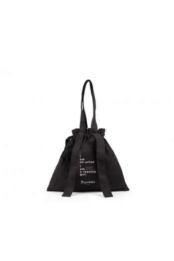 Carrier bag Repetto Rondo with knot C0333TA black