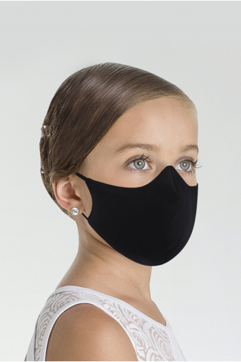 Mask category 1 Wear Moi MASK008 cotton mask black child