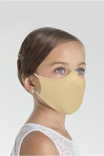 Masque Wear Moi MASK017 en microfibre enfant beige