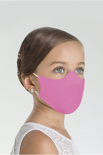Masque Wear Moi MASK017 en microfibre enfant rose