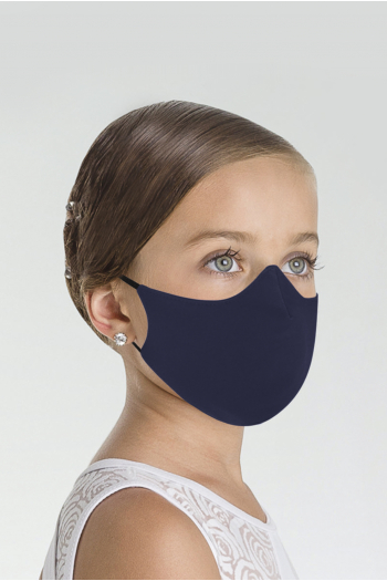 Masque Wear Moi MASK017 en microfibre enfant navy